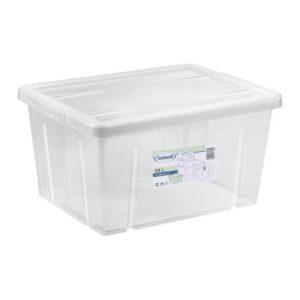 Caixa de Armazenagem com Tampa Tontarelli 29 L Transparente (47 X 36 x 24,5 cm)