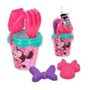 Conjunto de brinquedos de praia Minnie Mouse Plástico (5 Pcs)
