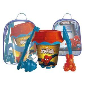 Conjunto de brinquedos de praia Spiderman (7 pcs)