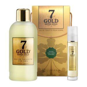 Conjunto de Perfume Homem Seven Gold Luxana (2 pcs)