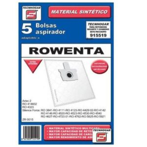 Sacos para Aspirador Rowenta 915519 (5 uds)