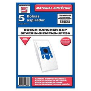 Sacos para Aspirador Bosch - Karcher - S&P - Severin - Siemens - Ufesa 915686 (5 uds)