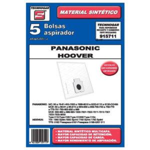 Sacos para Aspirador Panasonic - Hoover 915711 (5 uds)