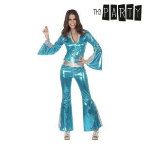 Fantasia para Adultos Disco Brilho Azul M/L