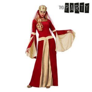 Fantasia para Adultos Dama medieval Vermelho XL
