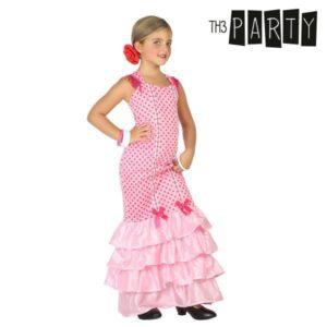 Fantasia para Crianças Bailarina de flamenco Cor de rosa 7-9 Anos