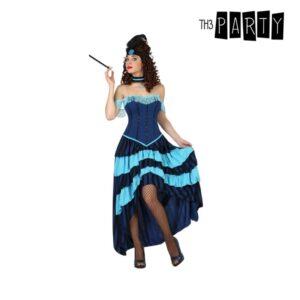 Fantasia para Adultos Bailarina de cabaret Azul (2 Pcs) M/L