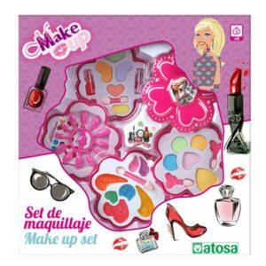 Conjunto de Maquilhagem Infantil Flor Cor de rosa