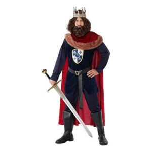 Fantasia para Adultos 113893 Rei medieval Azul marinho Vermelho XL