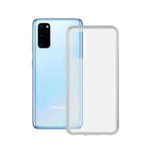 Capa para o Telemóvel com Extremidades em TPU Samsung Galaxy S20+ Contact Flex Transparente