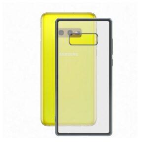 Capa para Telemóvel Samsung Galaxy S10e KSIX Flex Metal TPU Transparente Cinzento Metalizado