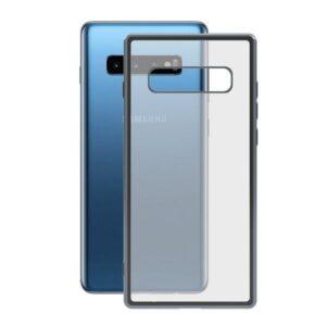 Capa para Telemóvel Samsung Galaxy S10+ KSIX Flex Metal TPU Transparente Cinzento Metalizado