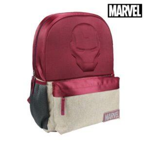 Mochila Escolar Ironman The Avengers Grená