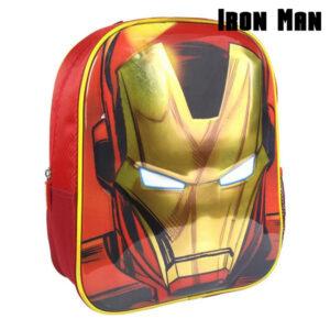 Mochila Infantil 3D Iron Man The Avengers 72613 Vermelho