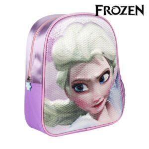 Mochila Infantil 3D Frozen Lilás