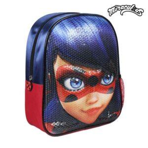 Mochila Infantil 3D Lady Bug Azul