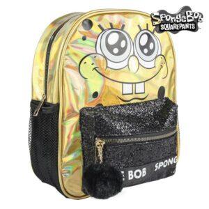 Mochila Casual Spongebob 72721 Dourado Preto