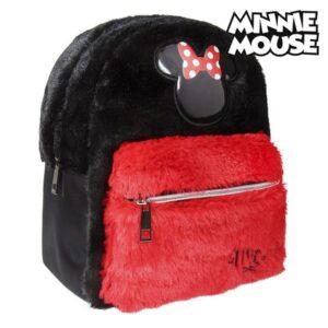 Mochila Casual Minnie Mouse Preto Vermelho