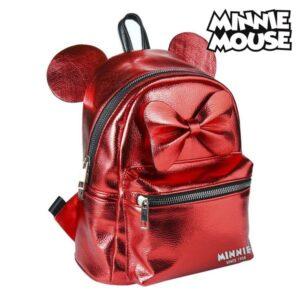 Mochila Casual Minnie Mouse 72822 Vermelho Metalizado