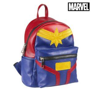 Mochila Casual Captain Marvel 72855 Azul Vermelho Amarelo