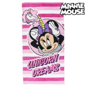 Toalha de Praia Minnie Mouse 75493 Algodão Cor de rosa