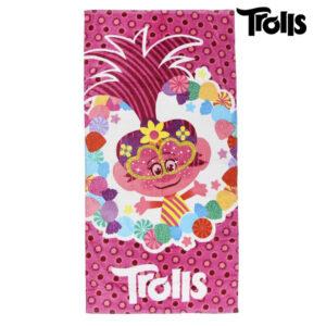 Toalha de Praia Trolls 75496 Algodão Cor de rosa