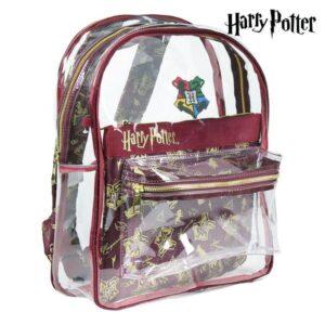 Mochila Escolar Harry Potter 72902 Transparente Grená