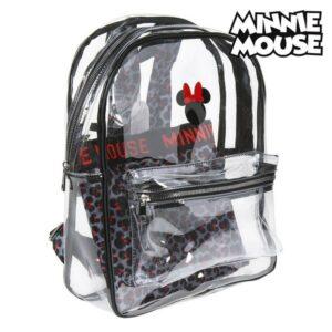 Mochila Escolar Minnie Mouse 72903 Transparente Preto