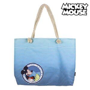 Saco de Praia Mickey Mouse 72926 Azul marinho Algodão