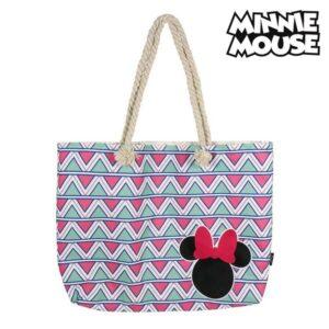Saco de Praia Minnie Mouse 72927 Cor de rosa Algodão