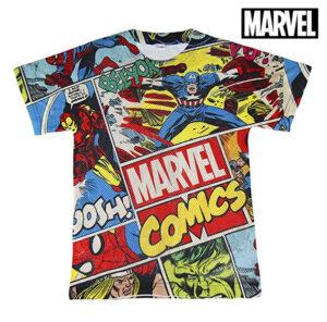 Camisola de Manga Curta Infantil Marvel 71985 Multicolor 12 anos