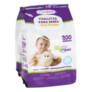 Toalhitas para Bebés com Creme (200 uds)