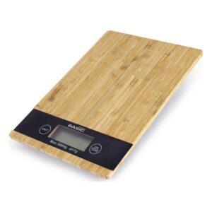 Balança de Cozinha Basic Home 5 k LCD Bambu