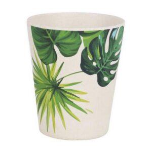 Copo Privilege Bambu Branco Verde 8 x 12,8 cm