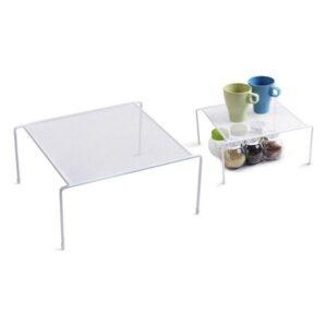 Organizador para o Armário de Cozinha Confortime Branco Metal (26,2 x 26,2 x 13,5 cm)