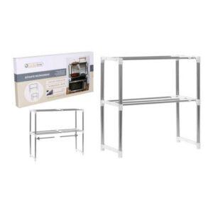 Prateleira Microwave Confortime Ajustável (24,5 x 62,5 x 47,6-80 cm)