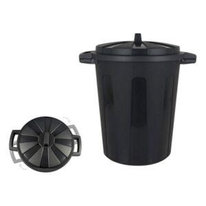 Balde de Lixo Preto 25 L - 43 x 34 x 44 cm