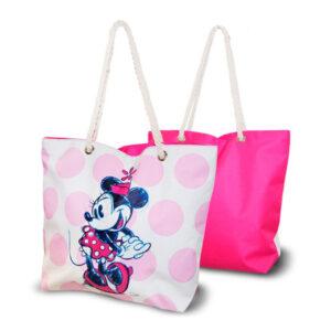 Saco de Praia Minnie Mouse Cor de rosa (33,5 x 43 cm)