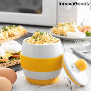 Cozedor de Ovos Cerâmico para Micro-Ondas com Receitas   Eggsira