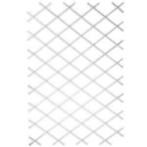 Nature Treliça de jardim 100x200 cm PVC branco 6040703 - PORTES GRÁTIS