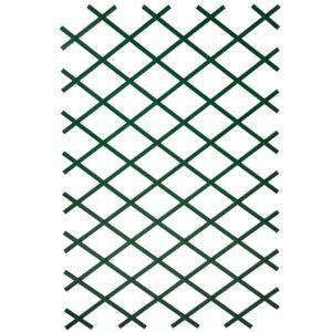 Nature Treliça de jardim 100x200 cm PVC verde 6040704 - PORTES GRÁTIS