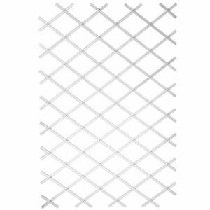 Nature Treliça de jardim 100x300 cm PVC branco - PORTES GRÁTIS