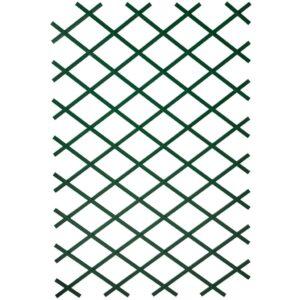 Nature Treliça de jardim 100x300 cm PVC verde - PORTES GRÁTIS