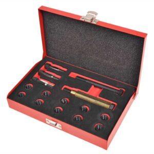 Kit reparação roscas velas incandescência 15 pcs M10 x 1,0 mm - PORTES GRÁTIS