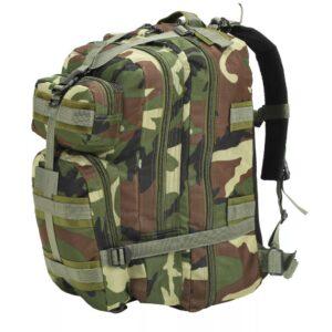 Mochila estilo exército 50 L camuflagem - PORTES GRÁTIS