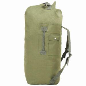Saco de pano estilo militar 85 L verde azeitona - PORTES GRÁTIS