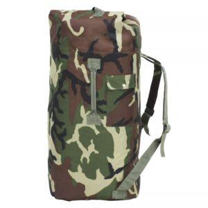 Saco de pano estilo militar 85 L camuflagem - PORTES GRÁTIS