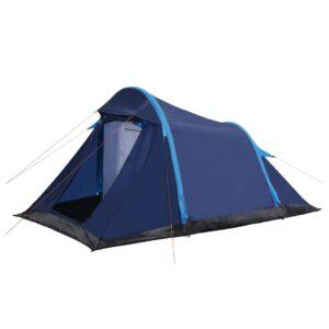 Tenda de campismo com vigas insufláveis 320x170x150/110 cm azul - PORTES GRÁTIS