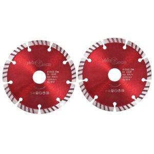 Discos de corte de diamante 2 pcs com aço turbo 125 mm - PORTES GRÁTIS