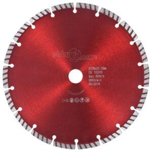 Disco de corte de diamante com aço turbo 230 mm - PORTES GRÁTIS